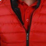 Başak-Traktör-Tekstil-Kapitone Polyester Uzun Kol Mont Kırmızı-1