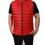 Başak-Traktör-Tekstil-KKapitone Polyester Yelek Mont Kırmızı-1