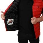 Başak-Traktör-Tekstil-KKapitone Polyester Yelek Mont Kırmızı-3